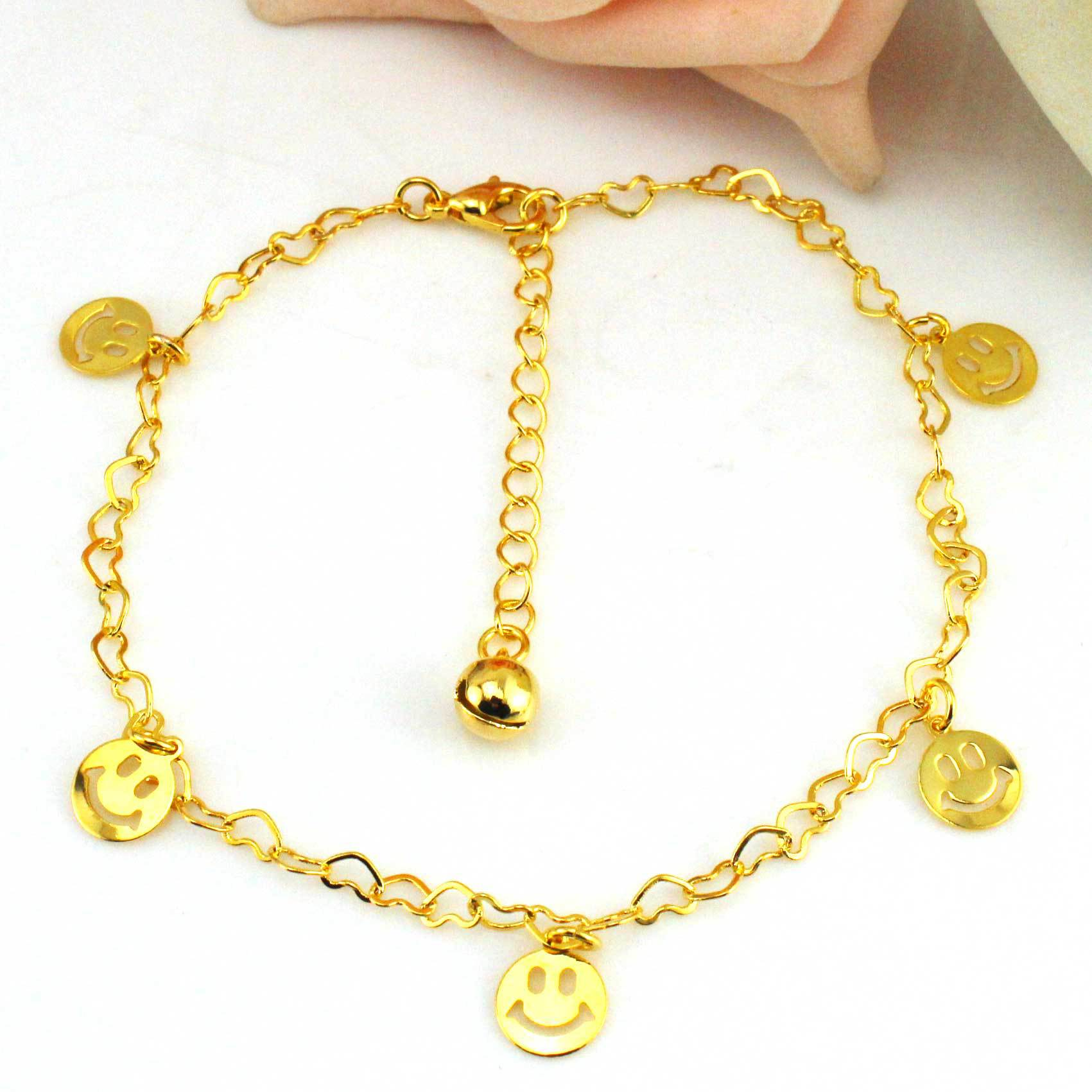 tone anklet gold bracelets charms ankle with bracelet anchor us icing