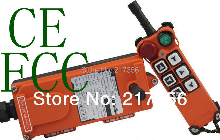 F21 E1 include 1 transmitter and 1 receiver 6 buttons 1 Speed Hoist crane remote control