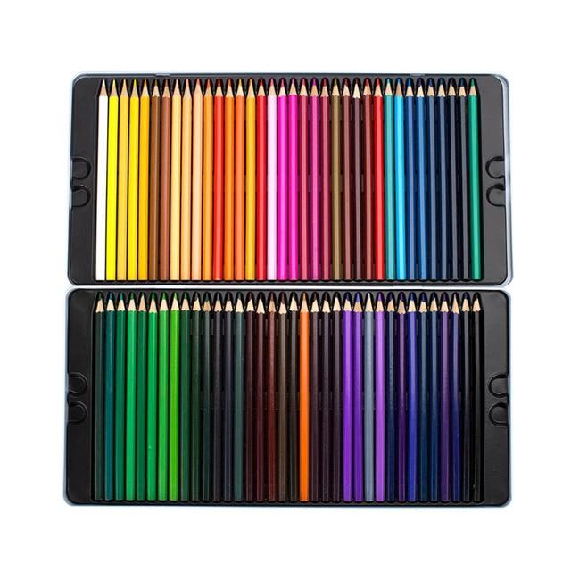 72 Colors Oily Color Pencil Iron Box Pastel Coloring Pen Advanced