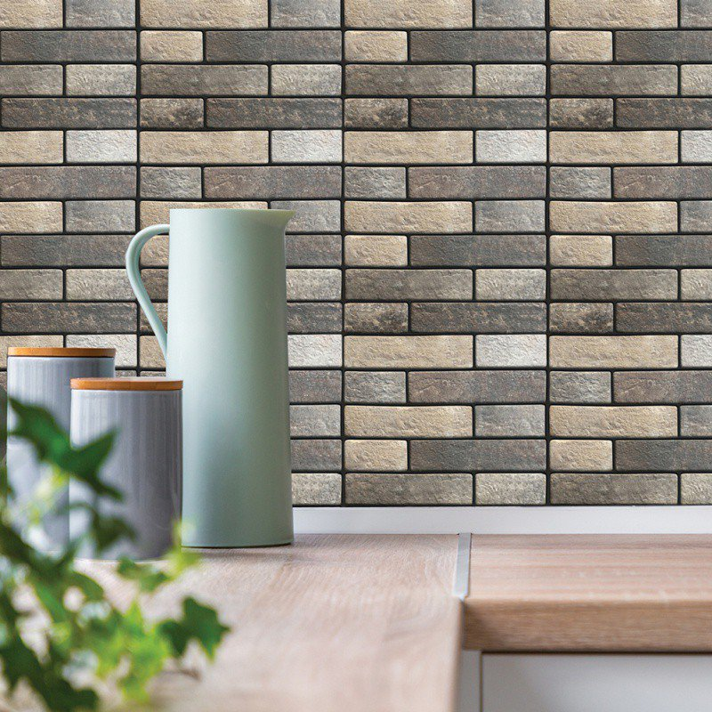 Peel And Stick Wallpaper In Bathroom: White Grey Marble Mosaic Peel And Stick Wall Tile Self