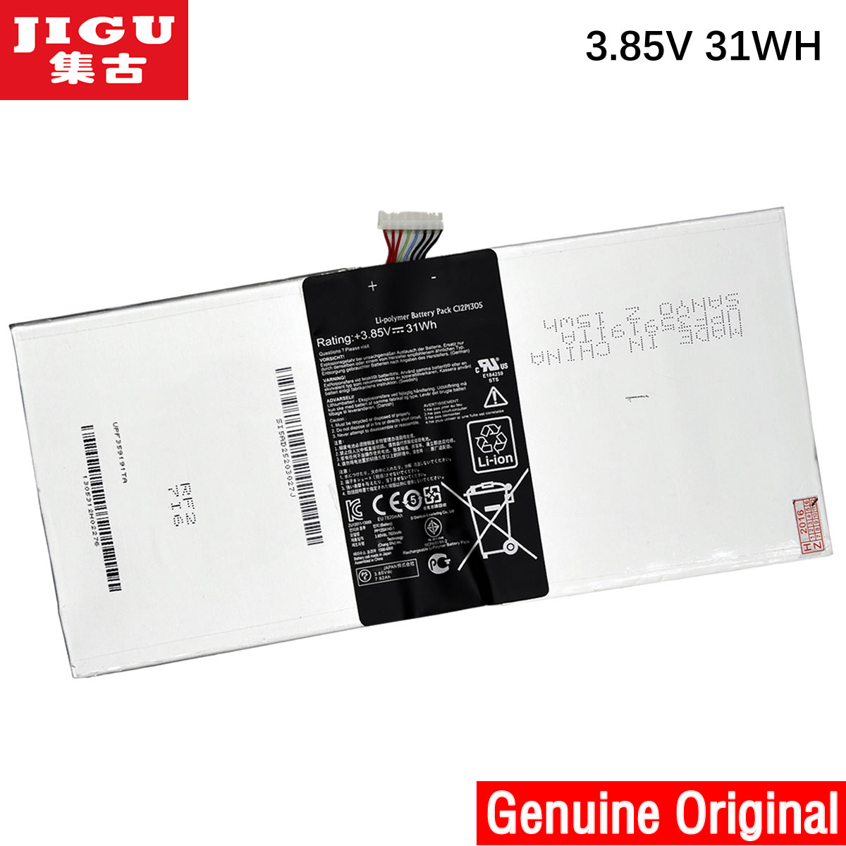 JIGU C12P1305 Original laptop Battery For ASUS Transformer Pad TF701T K00C