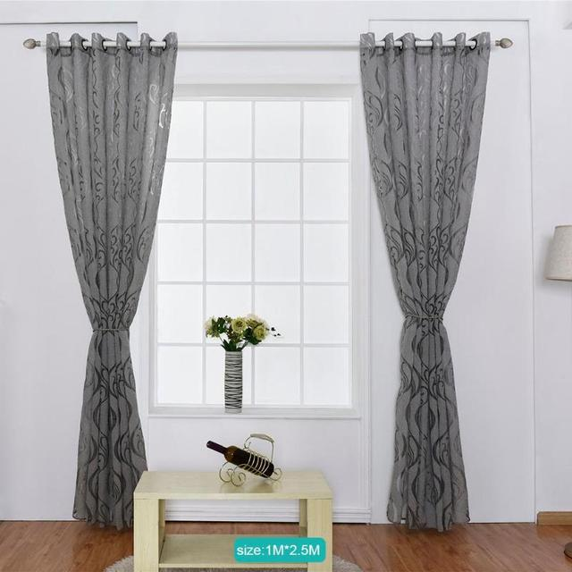 Hook Flowers Pattern Jacquard Punching Yarn Curtains Tulle Window ...