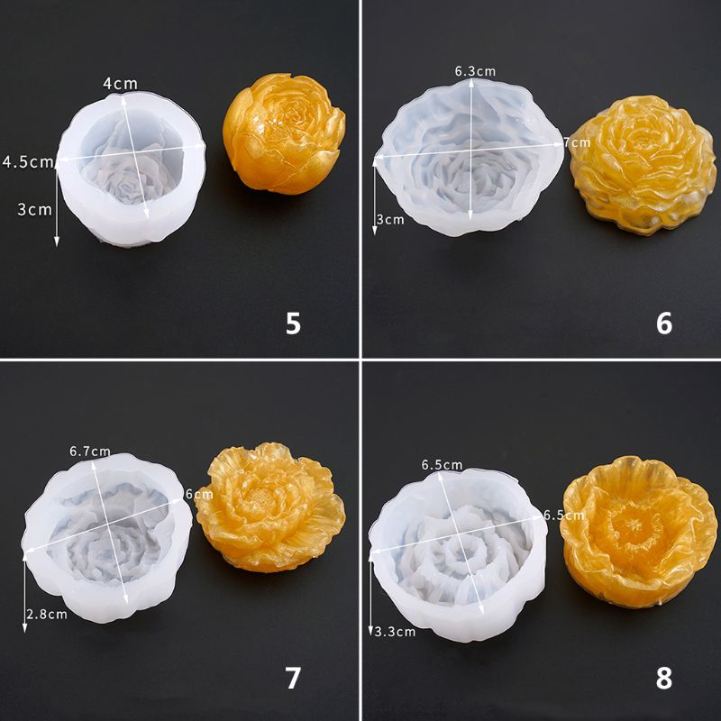 Crystal Epoxy Mould DIY Jewelry Mirror Three dimensional Flowers New Bright Flower Silicone Mold Making Cake Fondant Handmade in Jewelry Tools Equipments from Jewelry Accessories