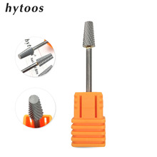 HYTOOS New Barrel Nail Drill Bit 3/32″ Rotary Tungsten Carbide Milling Cutter Manicure Bits Drill Accessories Nail Tools
