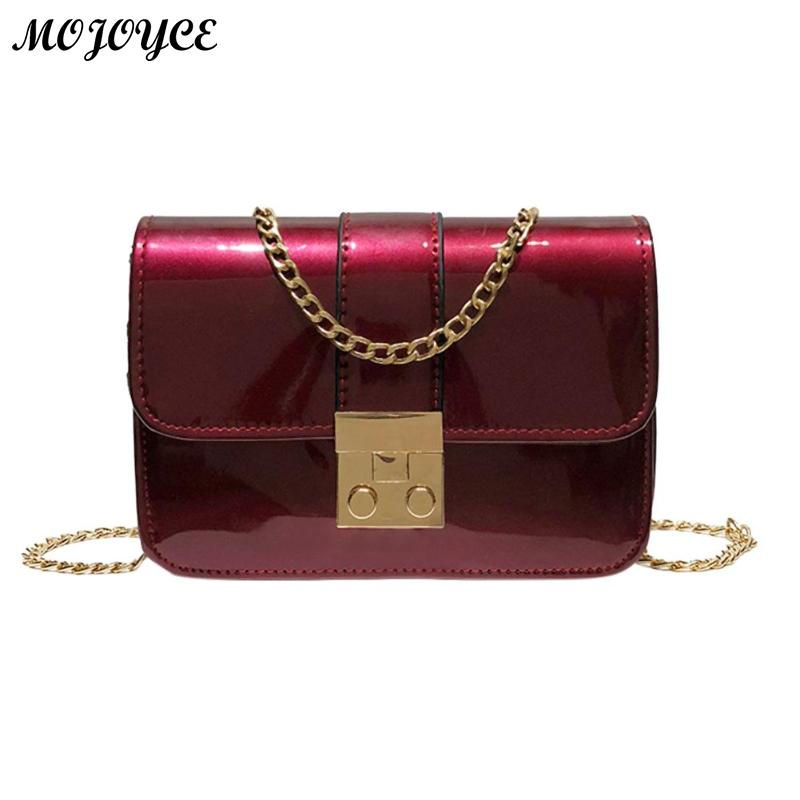 Women Casual Patent Leather Shoulder Bag Solid Small Female Daily Use Bag Flap Portable Crossbody Handbag Chain Messenger Bags nigedu brand weaving chain women messenger bag small flap shoulder bag black handbag female crossbody bags little bag ladies