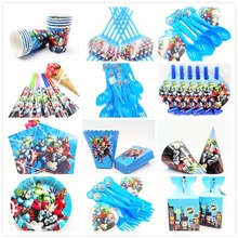 hot deal buy superhero avengers kids birthday party decoration set party supplies forks baby birthday pack event party supplies baby shower