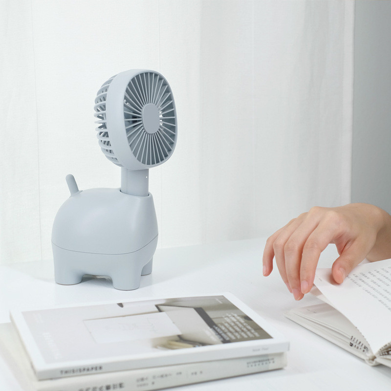 DC5V 1400mAh Battery Alpaca Style 3 Colors Cute Desktop Summer Cooling Fan Mini Portable Fan Rechargeable Ventilator