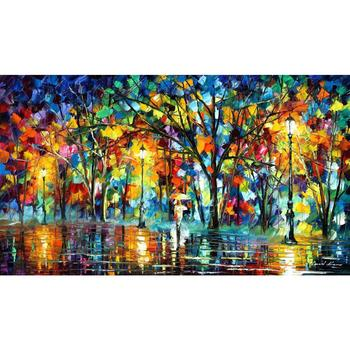 modern art paintings for sale lonely walk knife oil painting Landscape for living room Hand painted