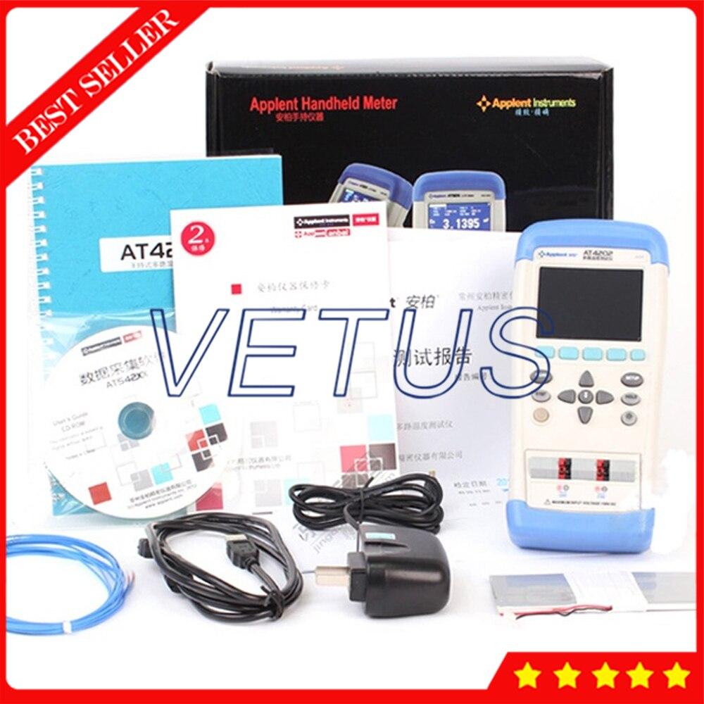 AT4208 цифровой 8 канал ручной Температура термометр метр самописец J/K/T/E/S/N/B USB Температура Регистратор данных