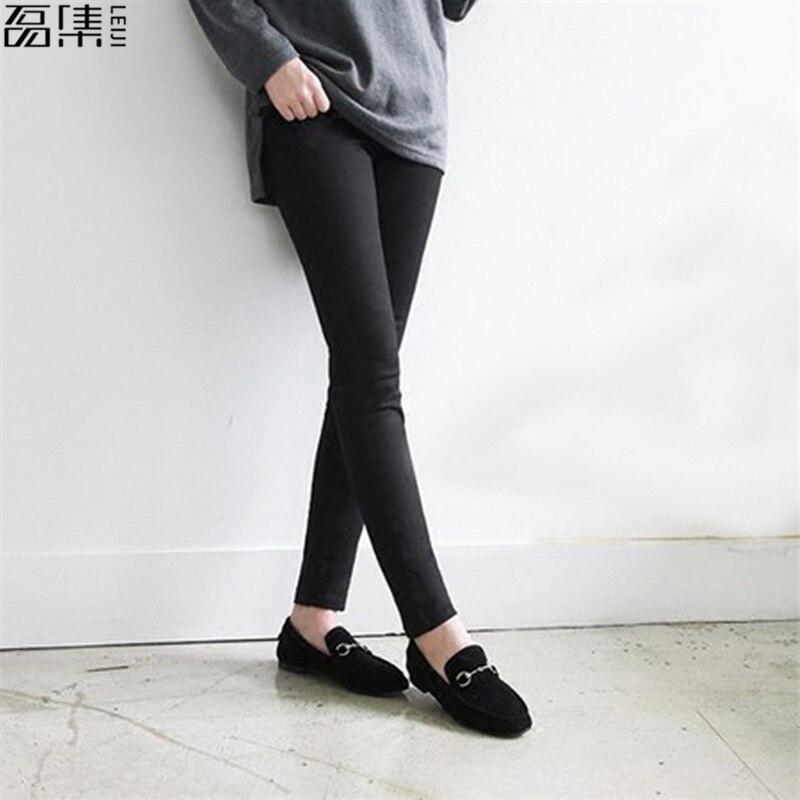 2017 Jeans woman skinny full Length  plus size pencil pant women Black Army green 5XL