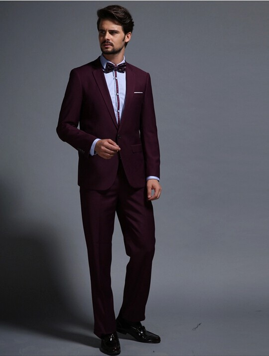 Aliexpress.com : Buy Red Wine Man Suit 2016 Wedding Tuxedos for ...
