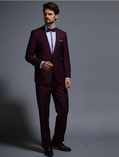 a4a8a82d62ec5 Vino tinto hombre 2016 de la boda esmoquin para hombres trajes de fiesta  M-0907