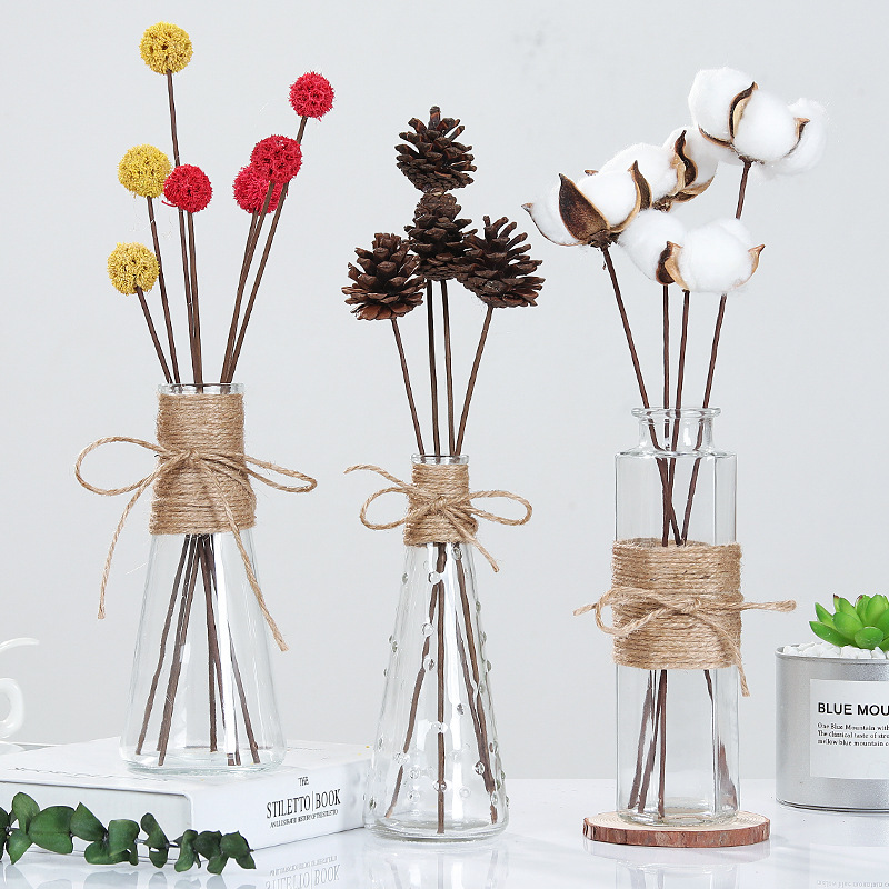 Creative Nordic Glass Vases Living Room Table Decoration Transparent