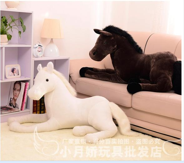 big plush simulation horse toy stuffed big white horse doll gift about 120cm