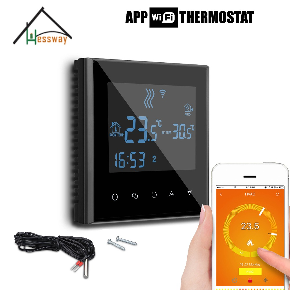 220V 110V 3KW heating wifi thermostat temperature controller for Underfloor heating load for APP ISO Android 110v 120v 100w poultry ceramic heating emitter black heating lamp for pet heating bulb for reptile with socket e26