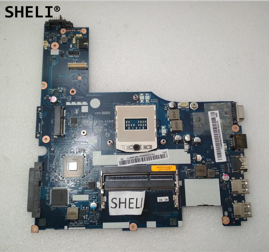 SHELI For Lenovo G510S Motherboard LA-A192P 90005225 VIWG4SHELI For Lenovo G510S Motherboard LA-A192P 90005225 VIWG4