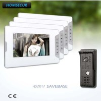 HOMSECUR 7 Hand Free IP54 Video Door Entry Security Intercom with Intra monitor Audio Interaction for Home Security