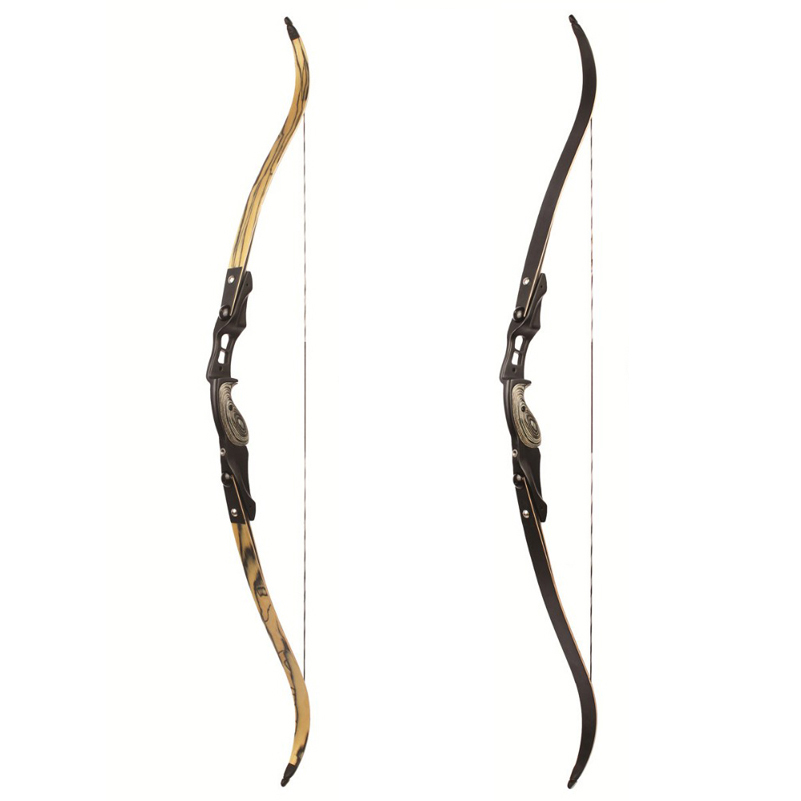 2 Color 30-60 lbs American Hunting Bow 60 Inches Bow in IBO 190FPS with 17 inches Riser Traditional Bow Long Bow Hunting 60 hanks stallion violin horse hair 7 grams each hank 32 inches in length
