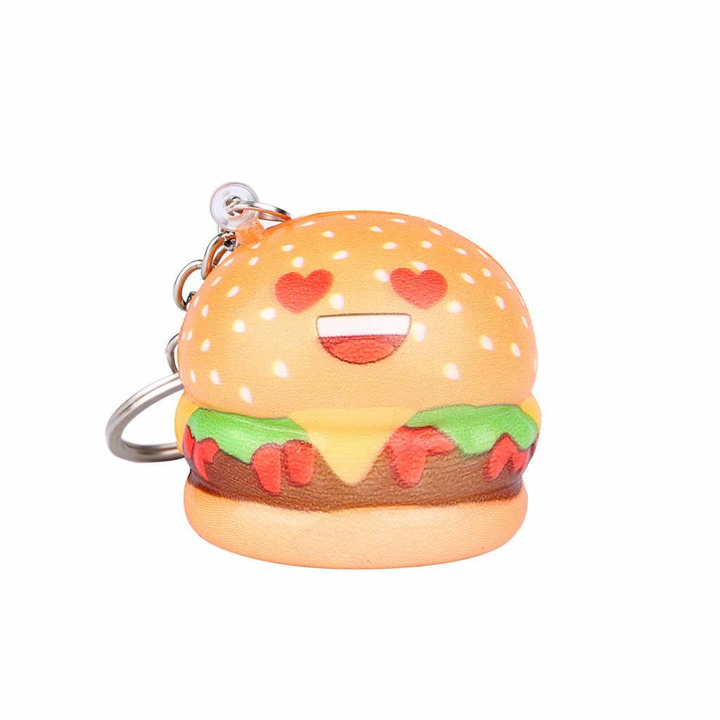 Bóp mềm Squishies Kawaii Phim Hoạt Hình Bánh Hamburger Chậm Tăng Kem Thơm Keychain Đồ Chơi Relief Căng Thẳng Vui Quà Tặng Z0325