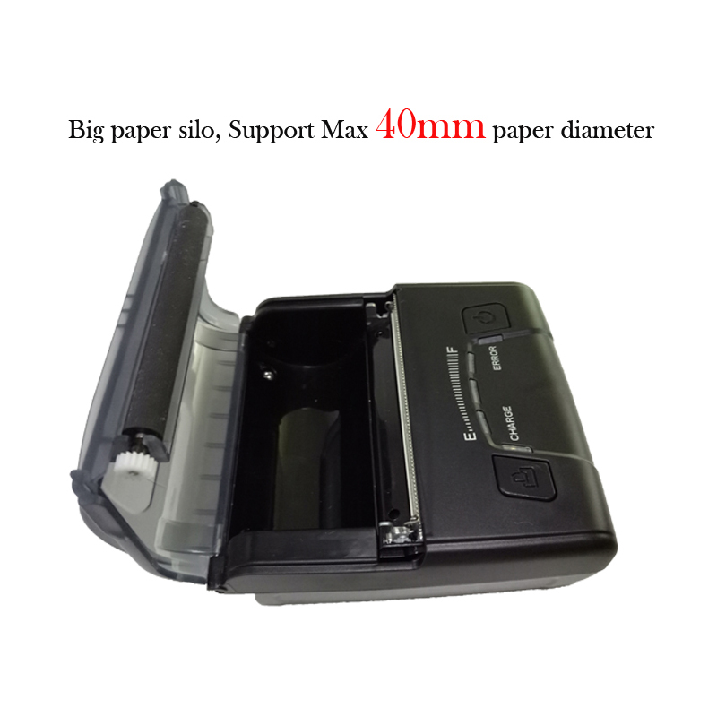 Pos thermal 3 inch pocket printer android and ios bill printer usb port with recharger battery free SDK for development