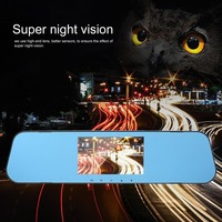 4.3'' Car HD Rearview Mirror Dash Cam 1080P IPS Touch Screen 170C Wide Angle Truck Rearview Dash Camera Vehicle Recorder