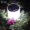 2017 Hot Sale 10LED Solar Powered Inflável Dobrável Protable Luz Lâmpada Para iluminação Jardim Quintal Led Solar Luz Ao Ar Livre