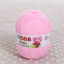 500g/Bag Baby Milk Knitting Yarn Cotton Wool Cashmere Crochet Yarn For Knitting Eco-Friendly Dyed High Quality Hand Knitted
