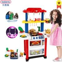 Beiens кухня детские пособия по кулинарии игрушечные лошадки для детей красный розовый игрушка посуда со световым звуковым эффектом ролевые