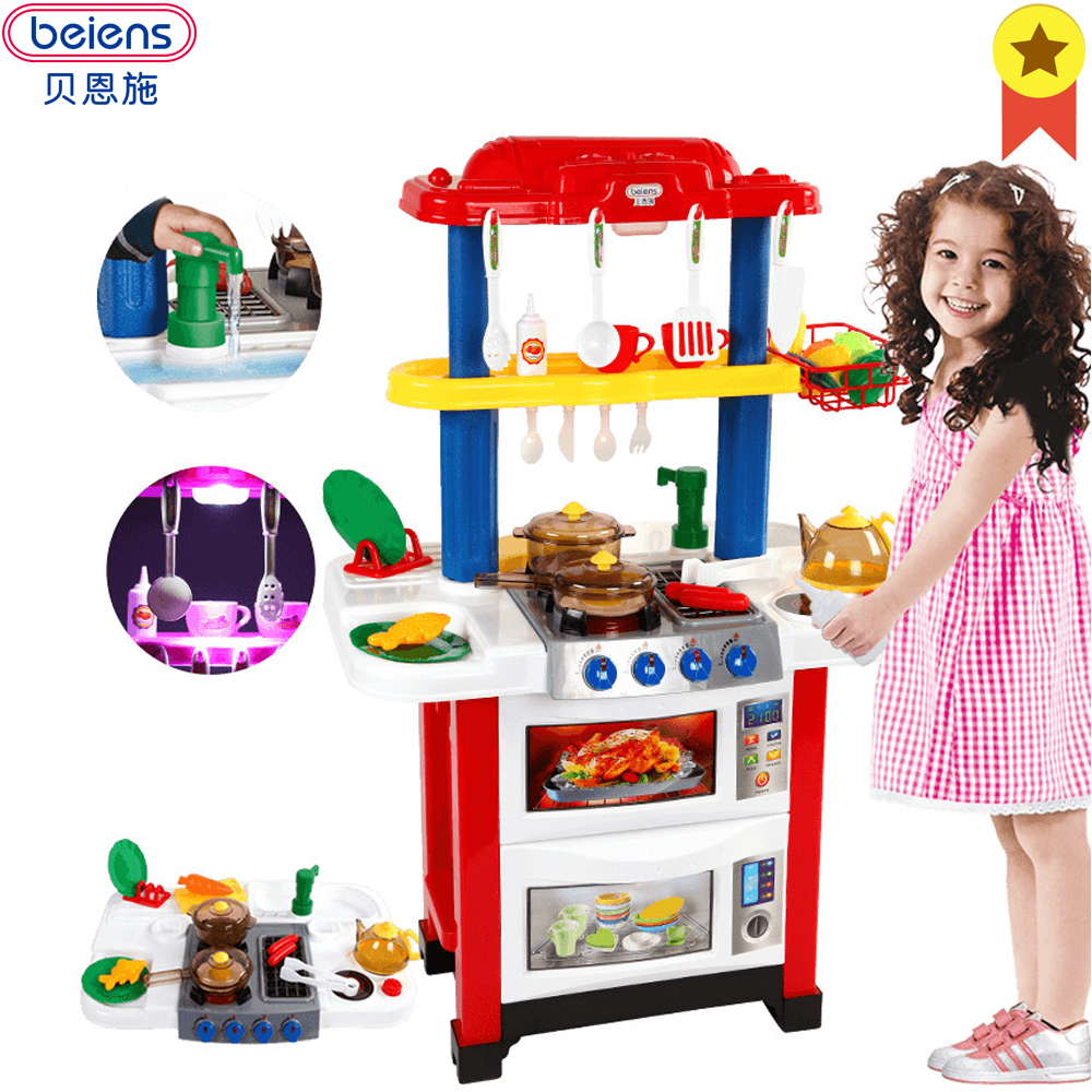 Cooking Toys For Boys : Beiens kitchen baby cooking toys for children red pink toy