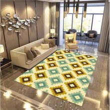 Simple Nordic style personality carpets for Living room Home bedroom Rugs Geometric pattern splice carpet Hallway Doormat tapis