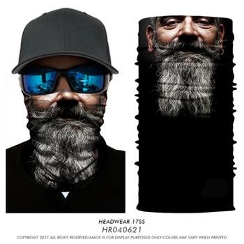 3D Seamless Balaclava Cycle Magic Headband Jokers Skull Beard Mouth Bandana Mascarillas Neck Warmers Face Mask Bicycle Headscarf