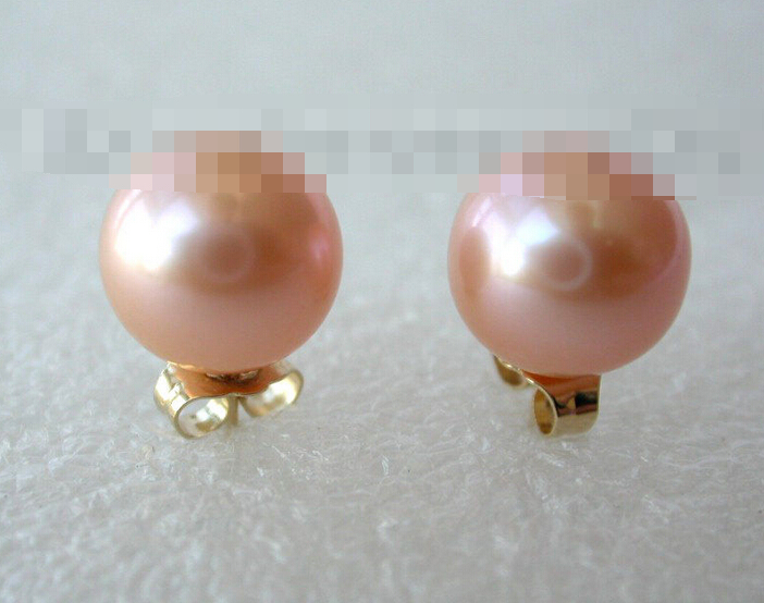 FREE SHIPPING>>> free shipping 00287 perfect round pink freshwater pearl earrings sovtek 5y3gt free shipping