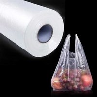 Vest type fresh keeping bags home economy loaded thick plastic large hand tearing bag small supermarket with roll food pcs pack