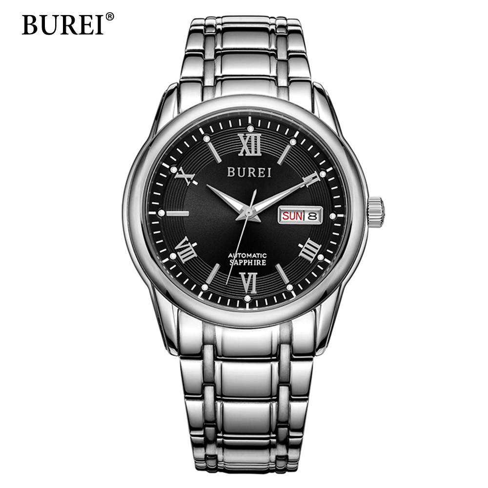 BUREI Luxury Brand Watch Mechanical Watch Men Business Wristwatches Automatic Watches Men Clock Relogio Masculino reloj hombre цена 2017
