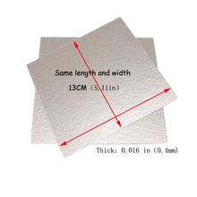 4PCS13*13cm Thickness 0.4mm Universal Cuttable Insulation High Temperature Insulation Mica Sheet Microwave Oven Insulation Sheet цена и фото