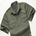 Alta qualidade Militar Tático Meia tops de manga curta Dos Homens de verão Respirável de Secagem rápida camisa de Combate Do Exército DOS EUA Camisa Coolmax Verão