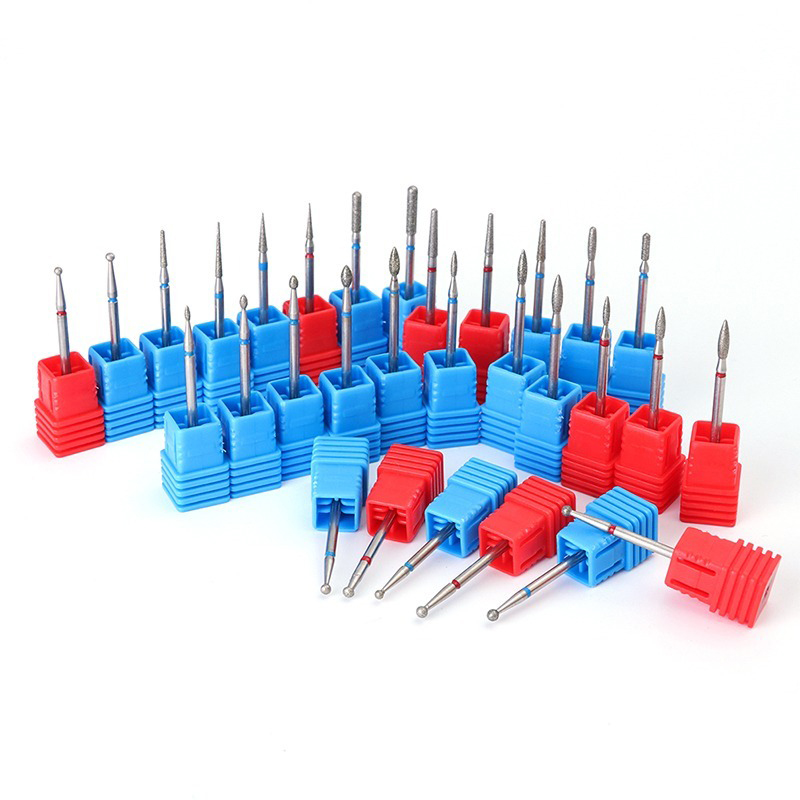 29 Type Diamond Nail Drill Bit Manicure Machine Milling Nail Electric Cutter Rotary Burr 3/32