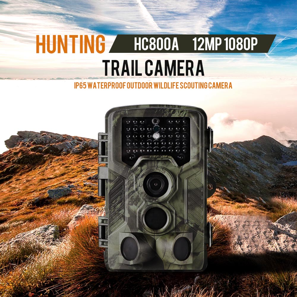 12MP 1080P HC 800A Trail Camera Hunting Camera Outdoor Wildlife Scouting Camera with PIR Sensor Infrared Night Vision hc 800a 12mp 1080p infrared digital trail camera 120 degree wide angle night vision hunting camera wildlife scouting device