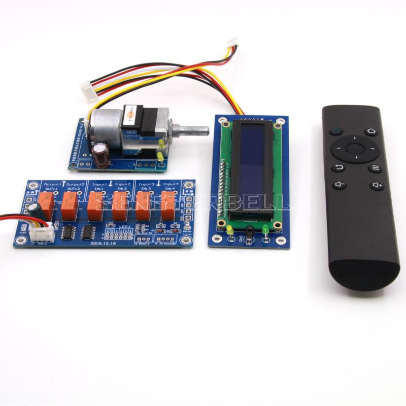 Assembeld Motor preamp Remote volume control board display input switch