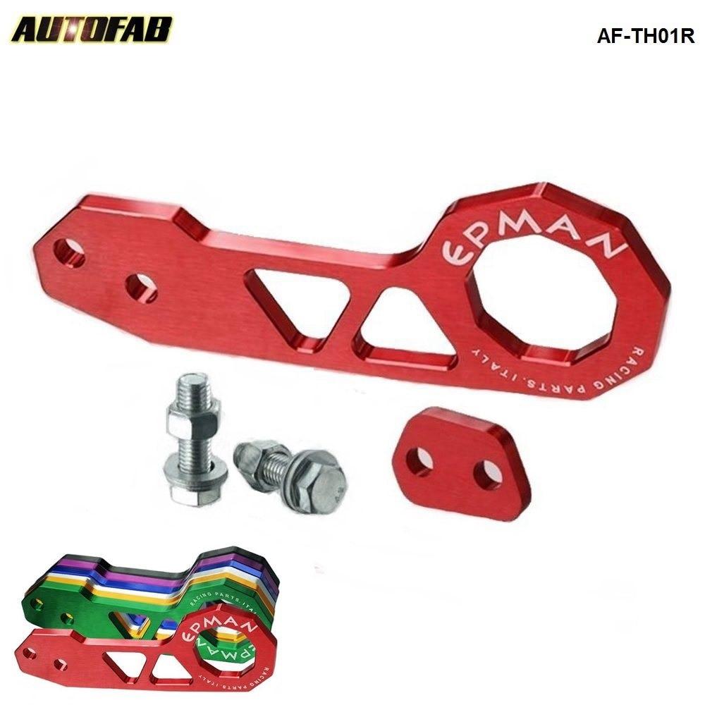 Rear, Gold JUDING Universal JDM Racing Rear Aluminum Tow Hook Auto Trailer Ring For HONDA MAZDA MITSUBISHI TOYOTA