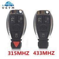 NUEVO 3 Botones Coche Clave Remoto Inteligente Para Mercedes para el Benz año 2000 + NEC y BGA estilo Automático A Distancia tecla de Control 315 MHz/433 MHz