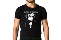 Men Cotton T Shirt Printed T Shirt System Of A Down Soad Metal Band Suited Monkey