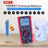 Ture RMS Professional Multimeter UNIT UT191T DC AC Volt Ampere Ohm Capacitance Temperature Duty cycle meter ACV LPF/LoZ ACV/IP65