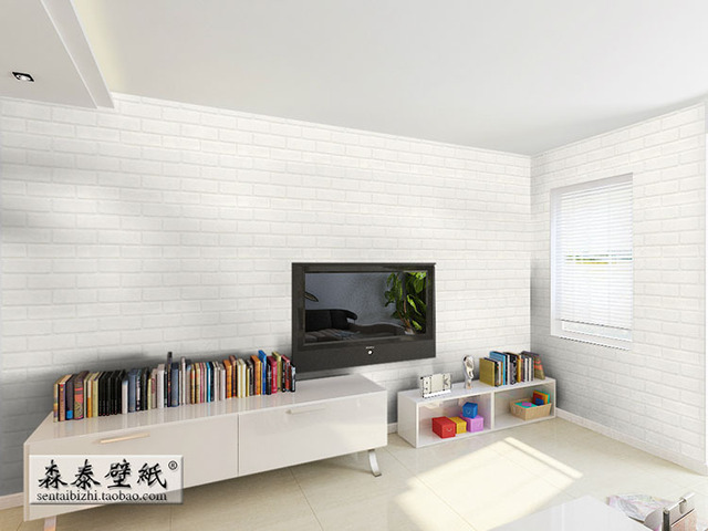 Thickening White Brick Wall Papers For Walls Tv Background Paper Roll Wallpaper Papel De Parede