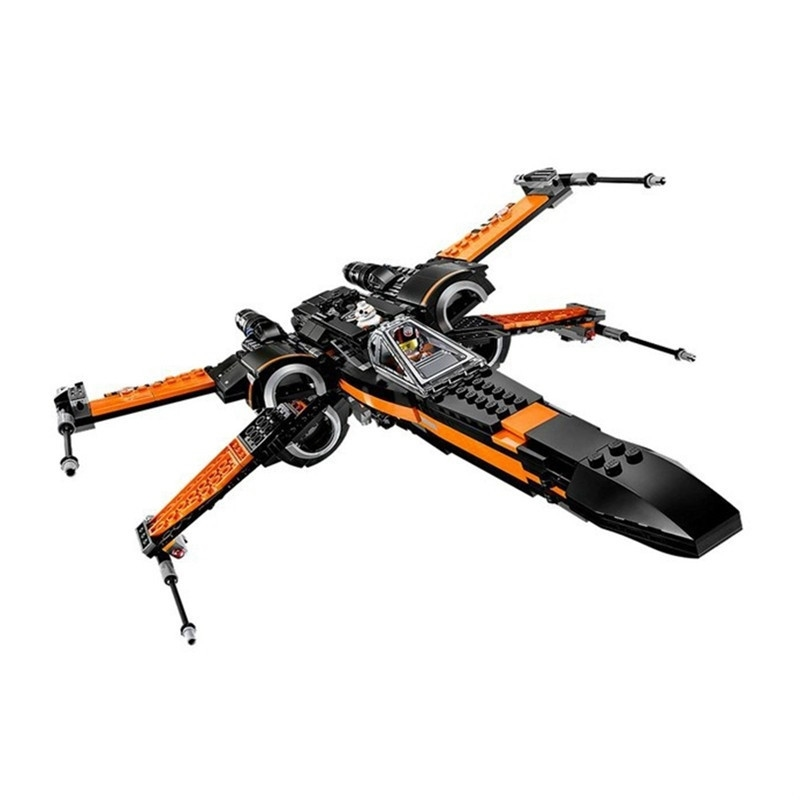 In Stock 748pcs 75102 Super Heroes StarWars First Order Poe X-Wing Star Fighter Building Blocks BB-8 Compatible With Legoinglys