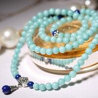 High Quality Healing Fashion Women S Amazonite 108 Beads Bracelet Or Necklace Charm New Design Yogi