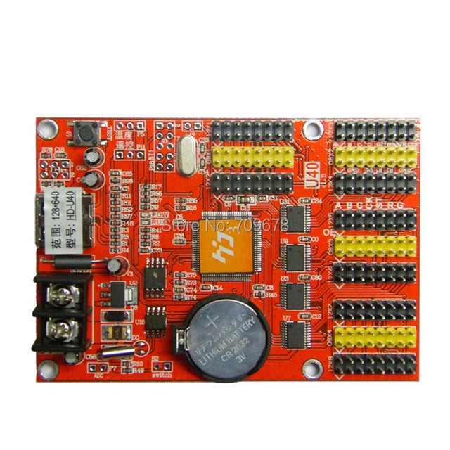 HD-U63(HD-U40) USB-Disk Port Huidu LED Control Card , Single Color P10 LED Card