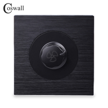US $9.78 45% OFF|Coswall Luxurious Fan Controller Wall Knob Switch Knight Black Aluminum Brushed Metal Panel 450W Maximum-in Switches from Lights & Lighting on Aliexpress.com | Alibaba Group