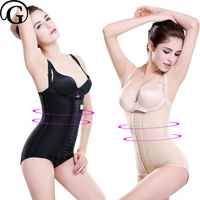 Hook Control Body Shapers One Piece Bra Lifter Corset Firm Tummy Trimmer Medical Recovery Bodysuits Lift