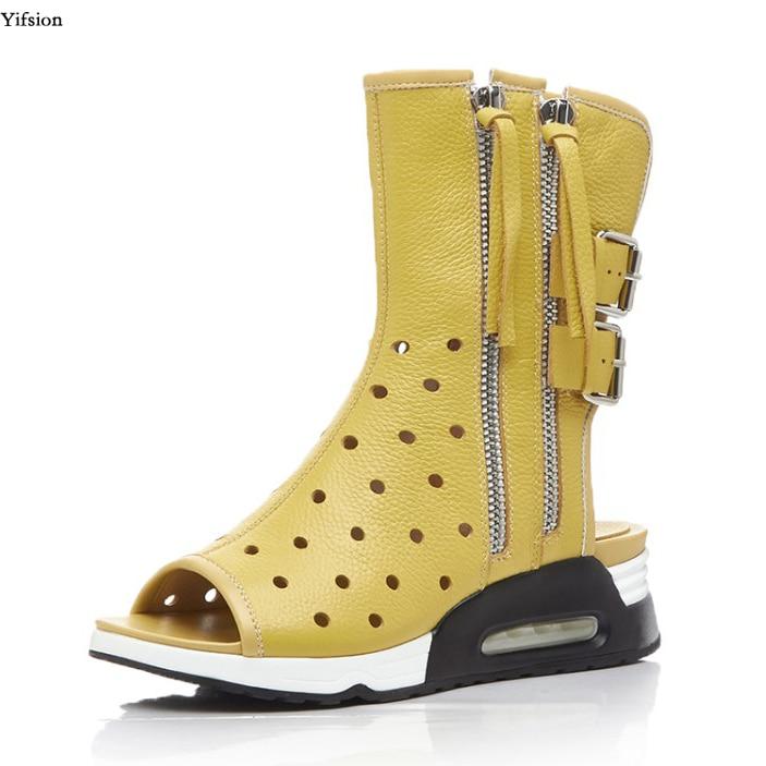 Cheville Noir 8 Chaussures D0863 Toe 5 Black D'été Yellow Yifsion Nouvelles d0863 Bottes Talon Blanc Jaune Bas Gladiateur Nous 4 Femmes Robe d0863 Taille Peep Coins White wqqHZIPy